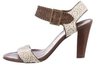 Salvatore Ferragamo Lace Ankle-Strap Sandals