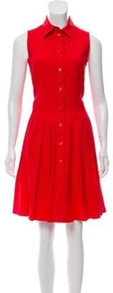 Michael Kors Sleeveless A-Line Dress Red Sleeveless A-Line Dress