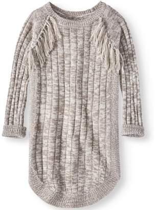Pink Angel Little Girls' 4-6X Fringe Long Sleeve Sweater Dress (Little Girls)