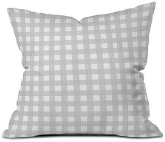 Deny Designs Allyson Johnson Gray Check Throw Pillow