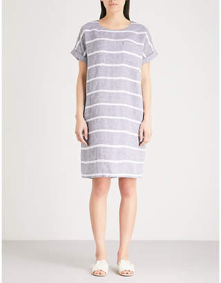 The White Company Striped chambray-linen dress