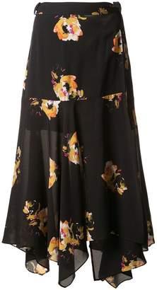 A.L.C. floral wrap skirt