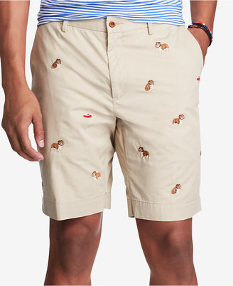 "Polo Ralph Lauren Men's 9"" Classic-Fit Embroidered Bulldog Shorts $79.50 thestylecure.com"
