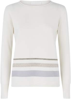 Fabiana Filippi Stripe and Chain Trim Sweater