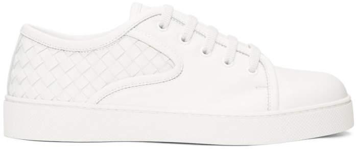 Bottega Veneta White Intrecciato Sneakers