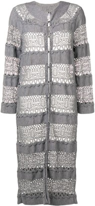 Christian Dior Pre-Owned lace knit longline cardigan
