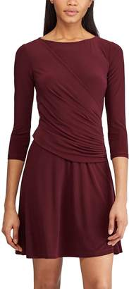 Chaps Women's Ruched Fit & Flare Dress