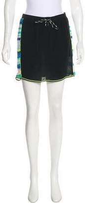 Jonathan Simkhai Printed Silk Mini Skirt