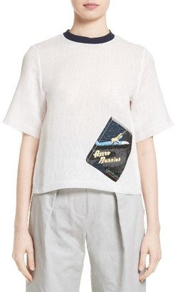 Women's Steventai Embroidered Book Tee $520 thestylecure.com