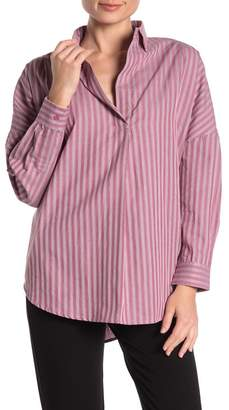 French Connection Bega Striped Oversize Blouse