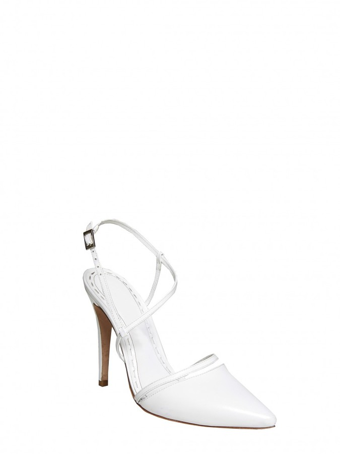 Alice + Olivia Davey Leather Heel