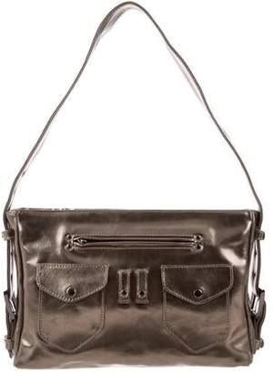 b1d4156355f Cacharel Metallic Leather Shoulder Bag