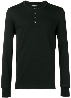Tom Ford front button T-shirt