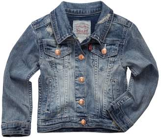 Levi's Levis Toddler Girls Distressed Denim Trucker Jacket