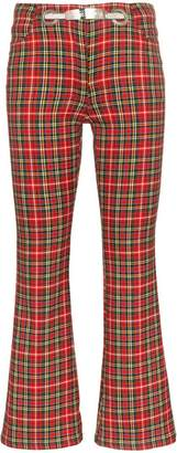 Morgan Miaou Plaid Trousers