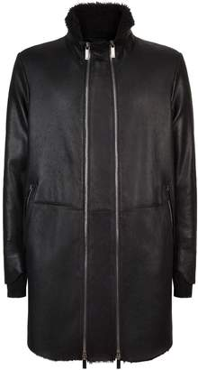 Emporio Armani Leather Coat
