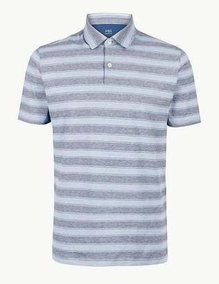 2b6d864ff11c Marks and Spencer Pure Cotton Striped Polo Shirt
