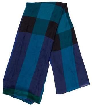 Burberry Mega Check Silk Scarf w/ Tags