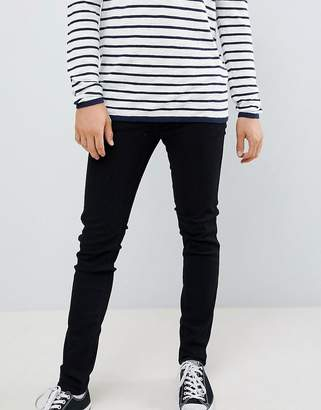 Dr. Denim Snap Skinny Jeans in Black