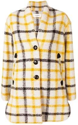 Etoile Isabel Marant checked cocoon coat