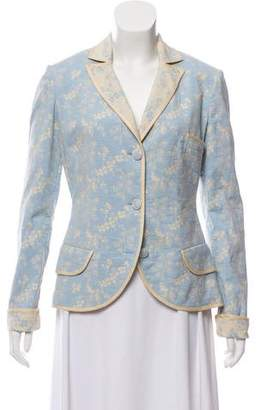 Blumarine Notch-Lapel Long Sleeve Blazer