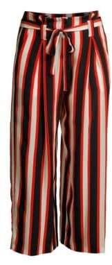 L'Agence Samira Cabana Stripe Silk Pants