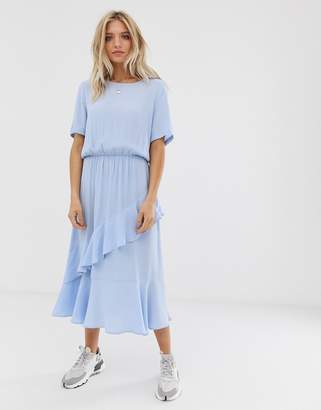 Just Female Kirsten ruffle tiered maxi dress