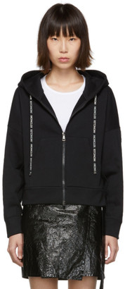 Moncler Black Zip-Up Sweater