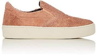 Balenciaga Women's Textured Leather Slip-On Sneakers - Noisette, T