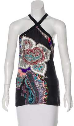 Etro Silk-Accented Halter Top
