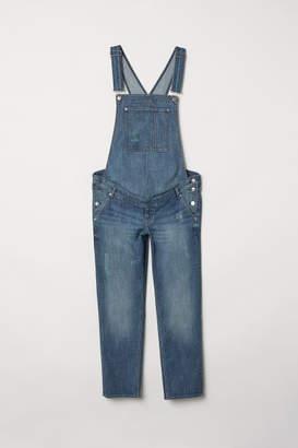 H&M MAMA Denim Bib Overalls - Blue