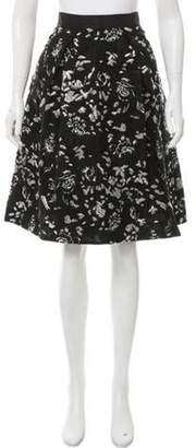 Prabal Gurung Metallic Matelassé Skirt Black Metallic Matelassé Skirt