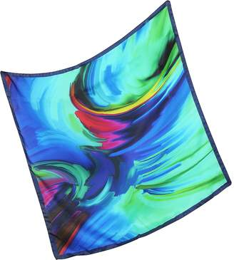Laura Biagiotti Waves Printed Twill Silk Bandana