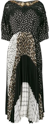 Antonio Marras mixed-print panelled dress