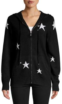 Ply Cashmere Star Printed Cashmere Hoodie