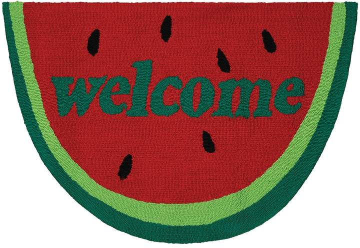 Couristan Couristan Covington Accents ''Welcome'' Slice Indoor Outdoor Rug - 2' x 3'
