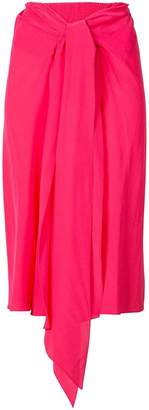 Tome draped midi skirt