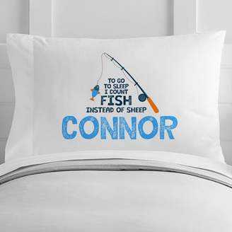 4 Wooden Shoes Personalized Toddler Fishing Pillow Case