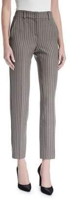 Armani Collezioni Mini-Herringbone Slim Cropped Pants