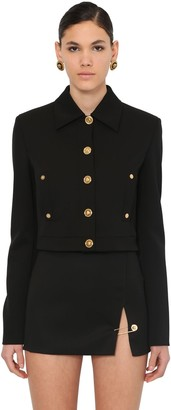 Versace SHORT WOOL CLOTH JACKET