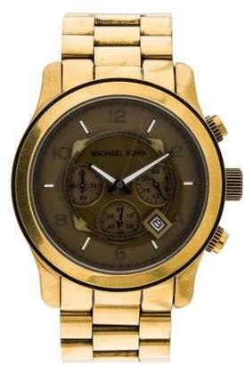 Michael Kors Runway Bronze Tone Watch