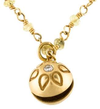 Me & Ro Me&Ro 18K Diamond & Sapphire Bead Pendant Necklace