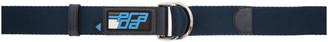 Prada Blue Logo Nastro Belt