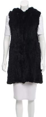 Michael Kors Knitted Fur Vest