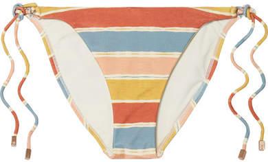 Vix Guadalupe Striped Bikini Briefs - Saffron