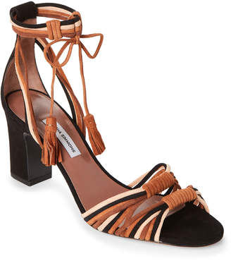 Tabitha Simmons Brown Jamie Knotted Suede Sandals