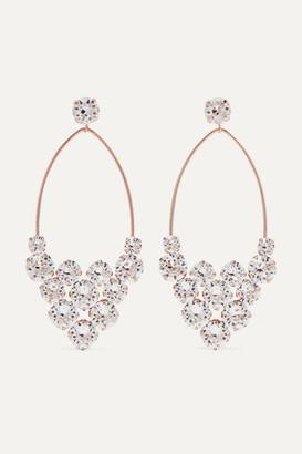 c963708b60 Isabel Marant Rose Gold-tone Crystal Earrings - Silver