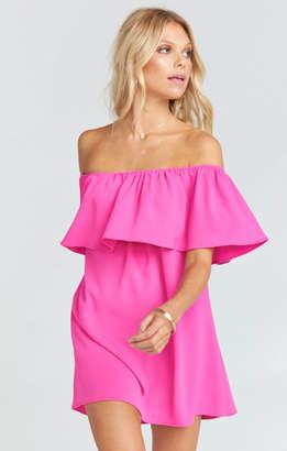 MUMU Can Can Dress ~ Hot Pink Crinkle Stretch