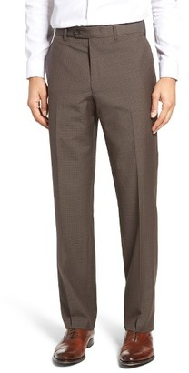 Men's Jb Britches Flat Front Plaid Wool Trousers $175 thestylecure.com