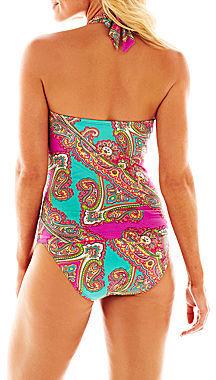 JCPenney Ocean Avenue Paisley Print Halterkini Swim Top